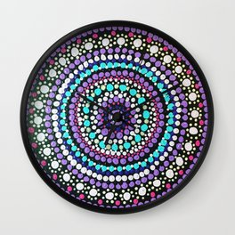 Dotted Mandala Wall Clock