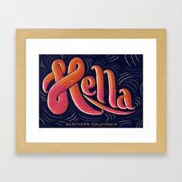 HELLA - CALIFORNIA Framed Art Print
