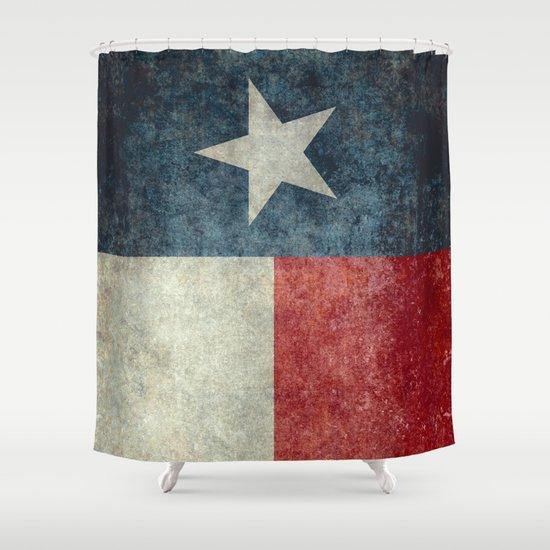 Texas State Flag Vertical Retro Vintage Version Shower Curtain By Lonestardesigns2020 Is Modern