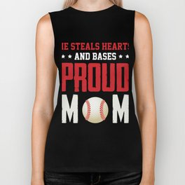 Awesome Gift For Mom. Baseball T-Shirt Biker Tank