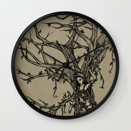 Elf Tree Wall Clock