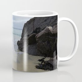Turquoise Waves Crashing on Porthmeor Rocks Coffee Mug
