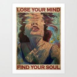Beach Sea Girl Under The Ocean Lose Your Mind Art Print