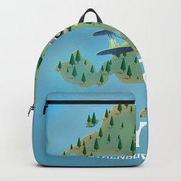 Styrsö, sweden travel poster. Backpack