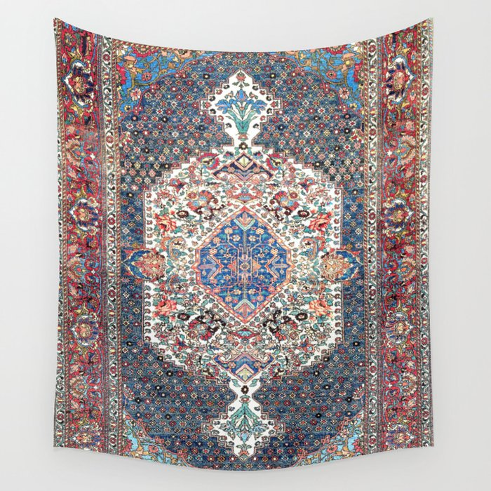 Bakhtiari Central Persian Rug Print Wall Tapestry