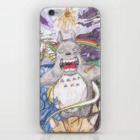 miyazaki iPhone & iPod Skins featuring Miyazaki Mash-Up by Loveless D. Grim