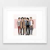 one direction Framed Art Prints featuring One Direction by vulcains