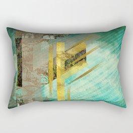 Fehu Rune Digital Art composition Rectangular Pillow