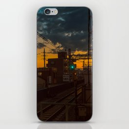 Tokyo Nights / Sunset over Fuji / Liam Wong iPhone Skin