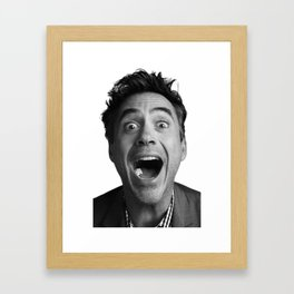 Robert downey jr Framed Art Print