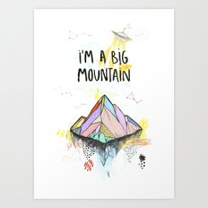 Big Mountain Art Print