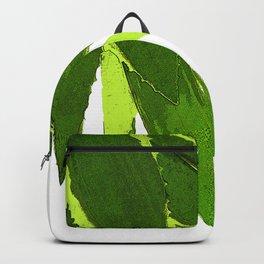 PALM TREE ON TROPICAL ISLAND FOLIAGE Backpack