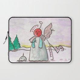 "#cagsticks ""An angel mocking a snowman"" Laptop Sleeve"