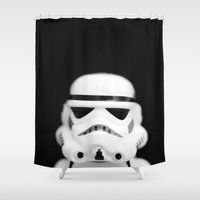 trooper Shower Curtains featuring Trooper by Emma Harckham