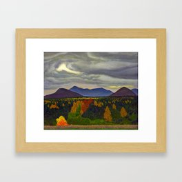 Sun through Clouds on Autumn Foliage by Rockwell Kent Framed Art Print