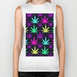 Colorful Marijuna Weed Biker Tank