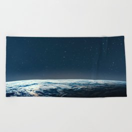 Earth and galaxy. Night Sky Space Beach Towel