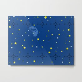 directional compass in space Metal Print