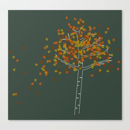 Lone Birch Canvas Print