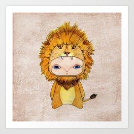 A Boy - Lion Art Print