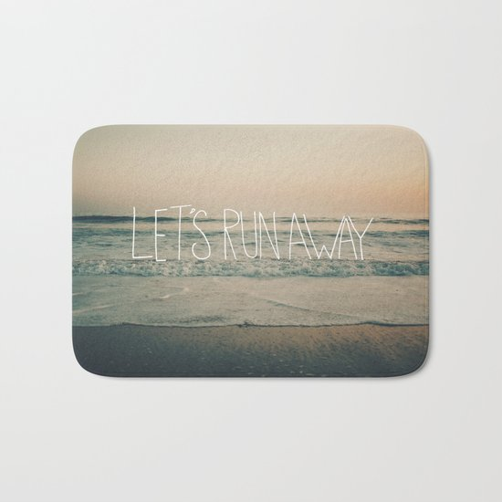 Let's Run Away by Laura Ruth and Leah Flores Bath Mat