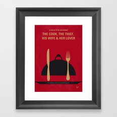 No487 My The Cook the Thief His Wife and Her Lover minimal movie poster Framed Art Print