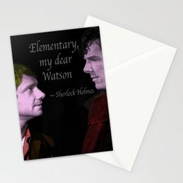 Elementary my dear, Watson Stationery Cards