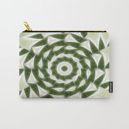 Green White Kaleidoscope Art 4 Carry-All Pouch
