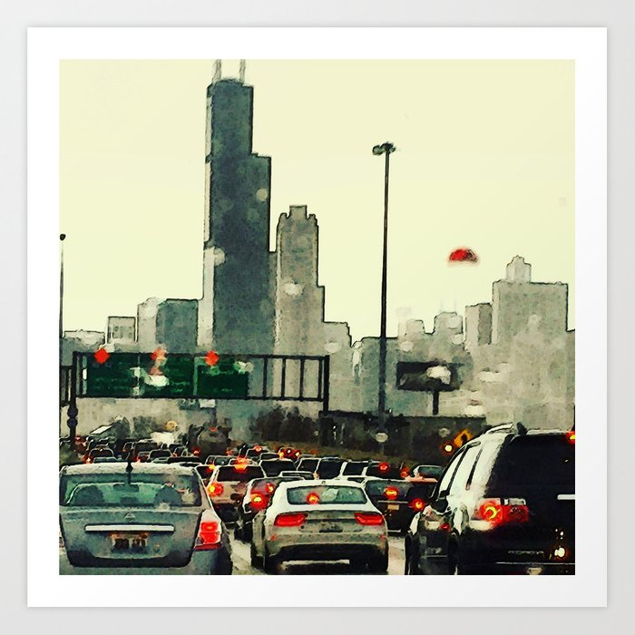 Friday Night Traffic #3 Art Print