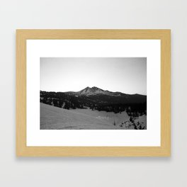 Broken Top at sunrise Framed Art Print