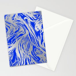 Marbled Blue Stationery Cards