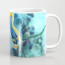 Yellow and blue striped chromodoris nudi Coffee Mug