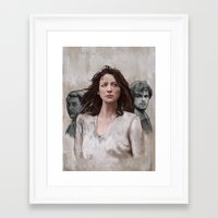 outlander Framed Art Prints featuring Outlander by Gabriella McGregor