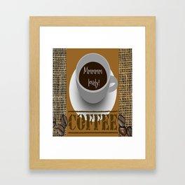 Lovely Coffee Framed Art Print
