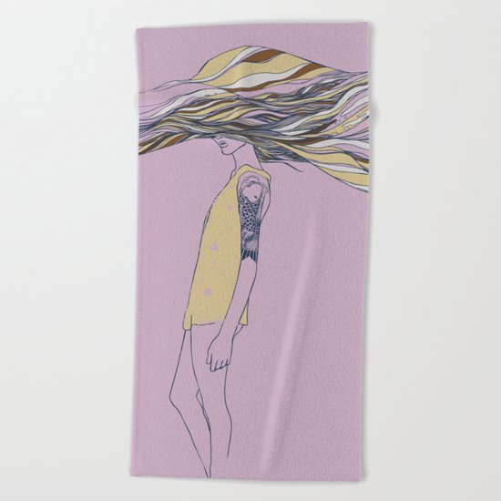 TRULY, DEEPLY IN LOVE Beach Towel