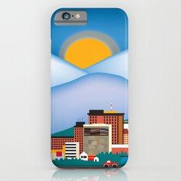 Anchorage, Alaska - Skyline Illustration by Loose Petals iPhone Case