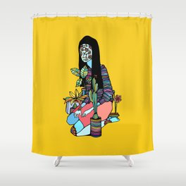 The Blossoming Girl Shower Curtain