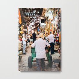 Streets of Marrakech, Morocco | travel - streets - color - photo - moroccan - print - poster Metal Print