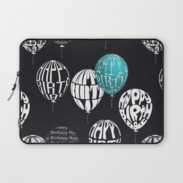 Happy Ballons Black&Blue Laptop Sleeve