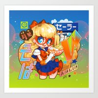 barachan Art Prints featuring v soba by barachan