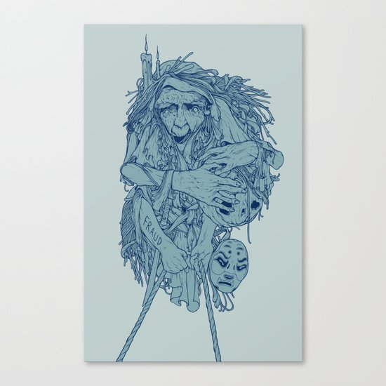 Blue witch Canvas Print