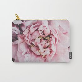 Pink Blush Peonies Carry-All Pouch