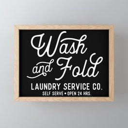 Wash & Fold Laundry Room Sign Framed Mini Art Print