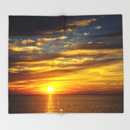 Mississippi Gulf Coast Throw Blanket
