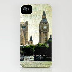 Big Ben and Parliament on the Thames River in London Slim Case iPhone (4, 4s)