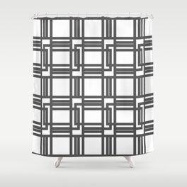 Interlocking Pattern Shower Curtain