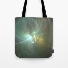 Holiday Glow Fractal Tote Bag