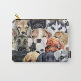 Dog All start, Dog illustration original painting print Carry-All Pouch