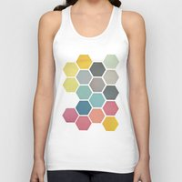 cassia beck Tank Tops featuring Honeycomb II by Cassia Beck