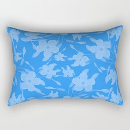Forget-Me-Not Flowers in Blue Rectangular Pillow